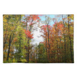 Fall Trees and Blue Sky Autumn Nature Photography Cloth Placemat