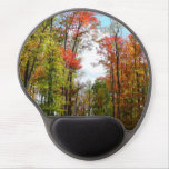 Fall Trees and Blue Sky Autumn Nature Photography Gel Mouse Pad