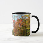Fall Trees and Blue Sky Autumn Nature Photography Mug