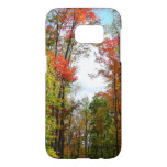 Fall Trees and Blue Sky Autumn Nature Photography Samsung Galaxy S7 Case