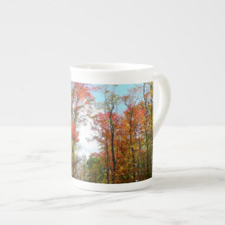 Fall Trees and Blue Sky Autumn Nature Photography Tea Cup