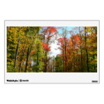 Fall Trees and Blue Sky Autumn Nature Photography Wall Sticker