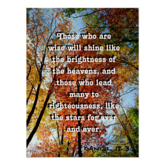 Fall Trees Big Text Christian Scripture Poster