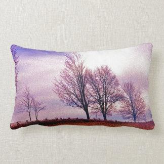 Fall Trees & Farm Fences Pasture Art Throw Pillows