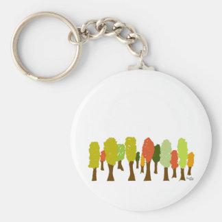 Fall trees keychain