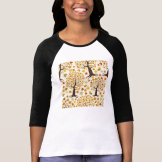 Fall Trees Print Pattern T-Shirt