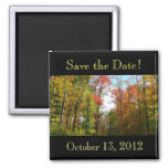 Fall Trees Save the Date Magnet