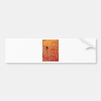 FALL TREES TRIPTYCH (MIDDLE PANEL) BUMPER STICKER
