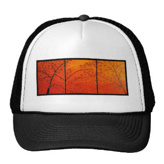 FALL TREES TRIPTYCH. TRUCKER HAT