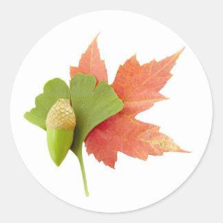 Fall Trio Round Sticker