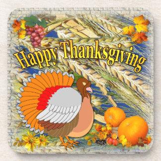Fall Turkey and Pumpkins ~ Coasters