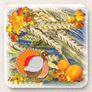 Fall Turkey and Pumpkins ~ Coasters # 3
