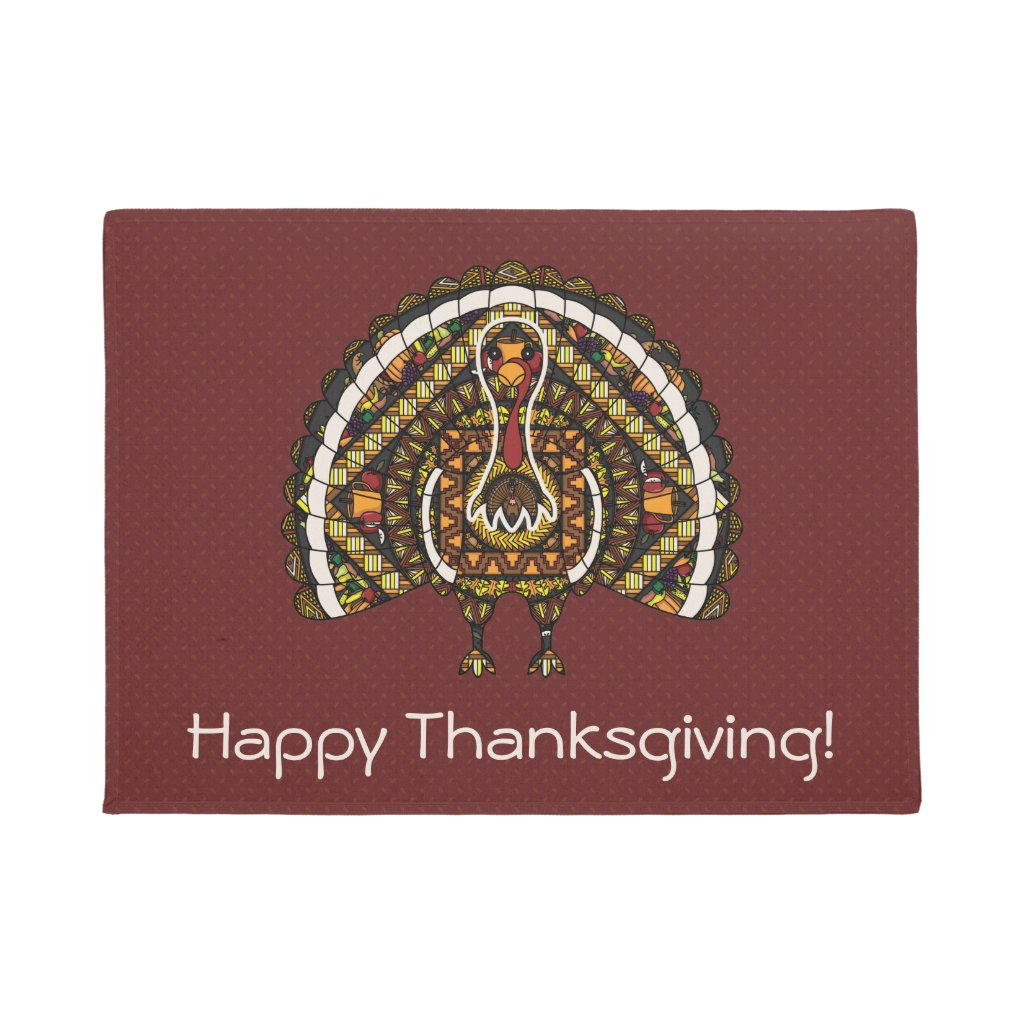 Fall Turkey Doormat