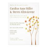 Fall Twig Tree 5x7 Wedding Invitation