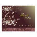 Fall Twilight Dandelion Wedding Thank You Cards Personalized Invitations