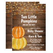 Fall Twin Baby Shower Invitation