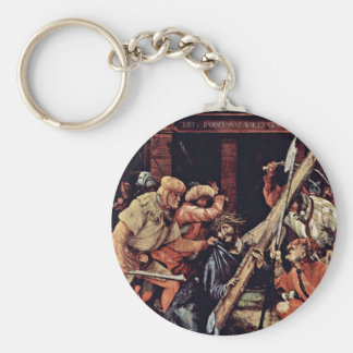 Fall Under The Cross Of Christ By Grünewald Mathis Basic Round Button Keychain