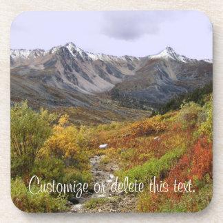 Fall Valley; Customizable Coaster