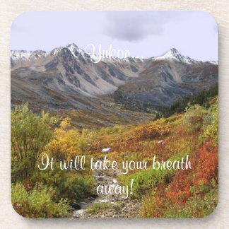 Fall Valley; Yukon Territory Souvenir Coaster