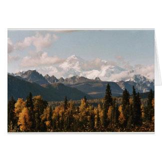 Fall View of Denali, Mt. McKinley Greeting Card