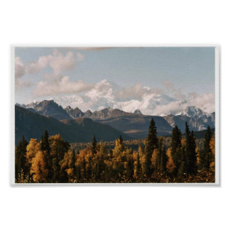Fall View of Denali, Mt. McKinley Poster