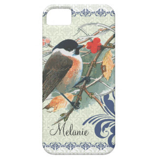 Fall Vintage Cute Bird Sitting on Branch iPhone SE/5/5s Case