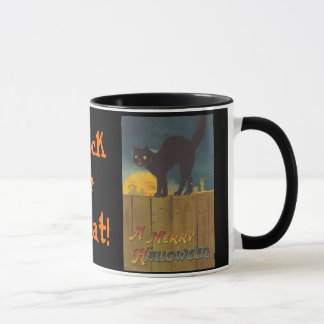 Fall-Vintage Halloween Trick or Treat Mug