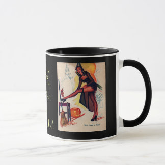 Fall-Vintage Holloween Pin-Up Circa 1920's Mug