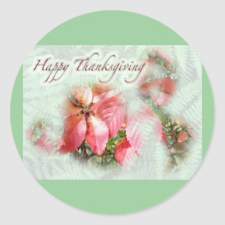 Fall Virginia Creeper Thanksgiving Sticker