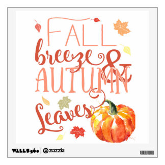 Fall wall decal sticker pumpkin autumn art
