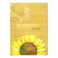 Fall Watercolor Sunflower Retirement Party Card