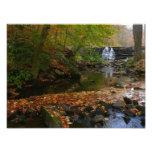 Fall Waterfall and Creek Pennsylvania Nature Photo