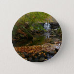 Fall Waterfall and Creek Pennsylvania Nature Photo Button