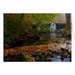 Fall Waterfall and Creek Pennsylvania Nature Photo Card