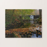 Fall Waterfall and Creek Pennsylvania Nature Photo Jigsaw Puzzle