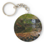 Fall Waterfall and Creek Pennsylvania Nature Photo Keychain