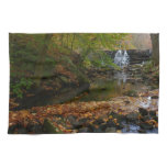 Fall Waterfall and Creek Pennsylvania Nature Photo Kitchen Towel