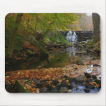 Fall Waterfall and Creek Pennsylvania Nature Photo Mouse Pad