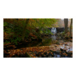 Fall Waterfall and Creek Pennsylvania Nature Photo Poster