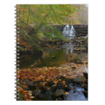 Fall Waterfall and Creek Pennsylvania Nature Photo Spiral Notebook