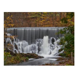 Fall Waterfall Postcard