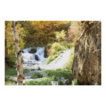 Fall Waterfall Posters
