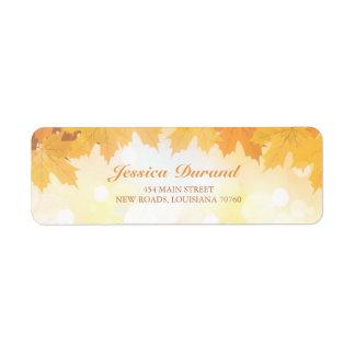 Fall Wedding Address Label