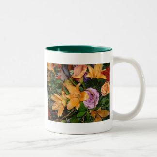 Fall Wedding Bouquet Two-Tone Coffee Mug