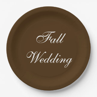 Fall Wedding Brown Rich Deep Rustic Color Paper Plate