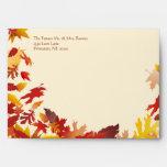 Fall Wedding Celebration Invitation Envelopes
