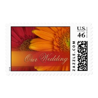 Fall Wedding Color Invite Postage stamp