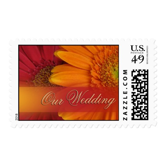 Fall Wedding Color Invite Postage