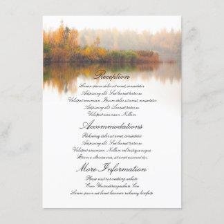Fall Wedding Details Enclosure Card