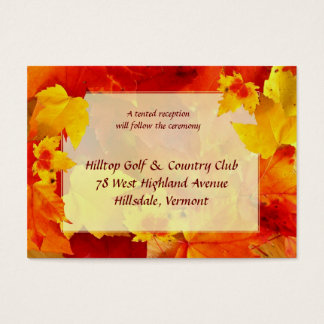 Fall Wedding Enclosure Cards